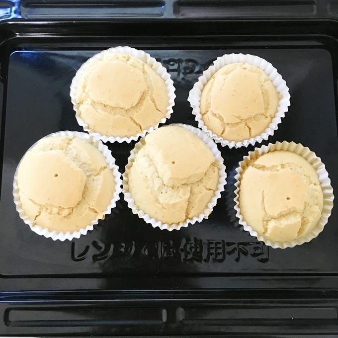 蒸しパン風ふんわり米粉マフィン