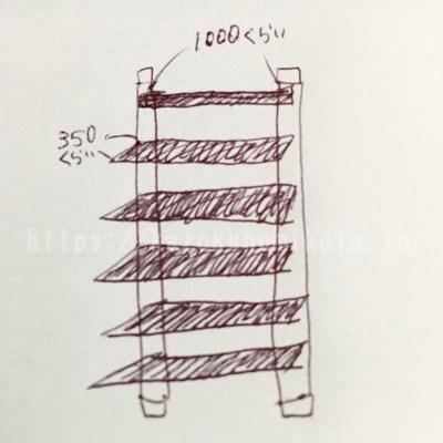 ラブリコと2×4(ツーバイフォー)でDIYした棚のデザイン